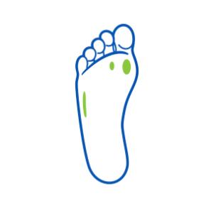 ikona miejsca występowania odcisków na stopach
